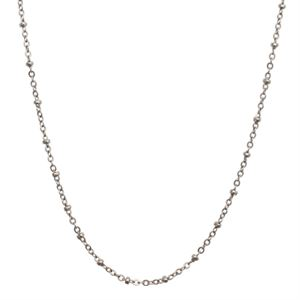 """Picture of Silver Faceted Bead Chain - 32"""""""
